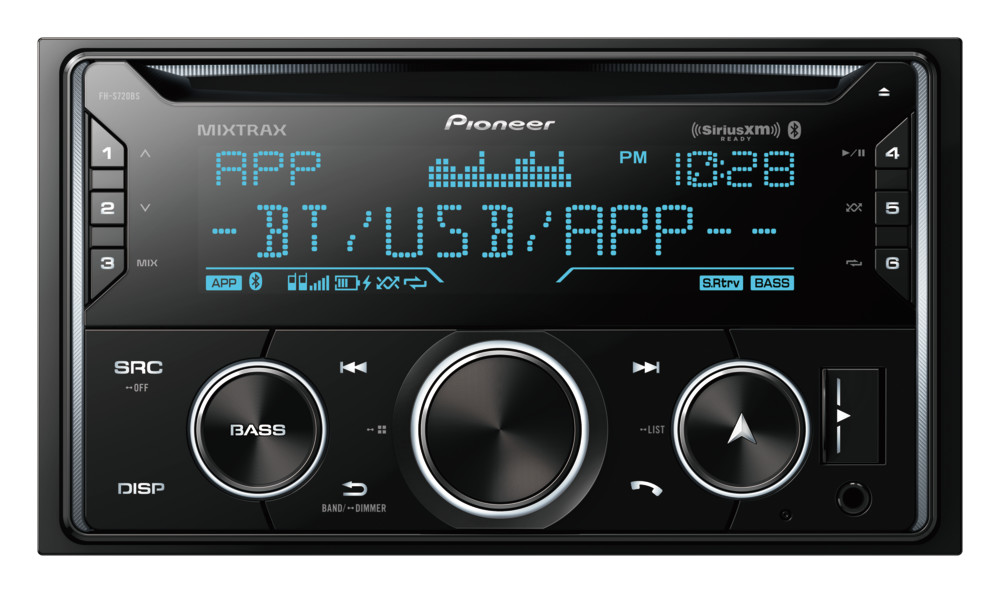 Pioneer FH-S720BS Double DIN CD Receiver -  Built-in Bluetooth