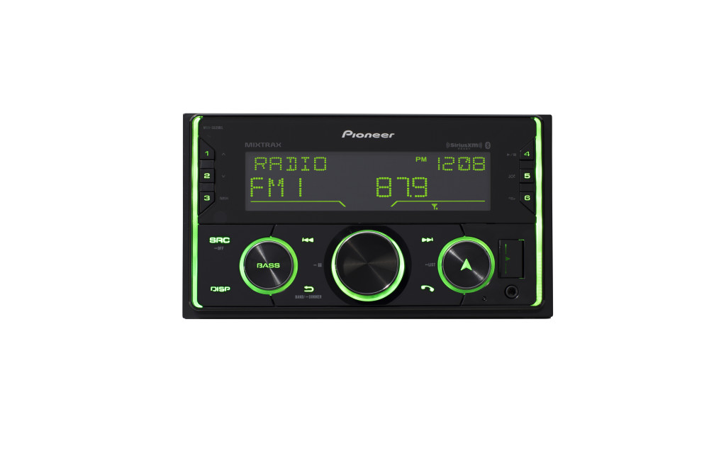 Pioneer MVH-S620BS Double DIN Digital Media Receiver, Built-in Bluetooth